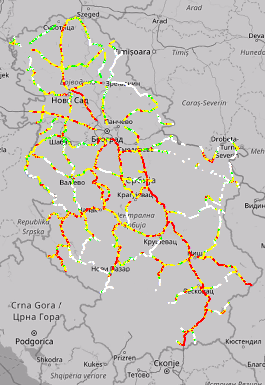 Radio Coverage | Mobile networks in Serbia